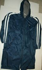 Speedo Swimmer Swim Team Jacket Hooded Fleece Lined Parka Warm Up Blue Large L