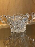 Vintage American Brillant Cut Glass Sugar Bowl-No Chips or Cracks 3 1/2 x 7 Wide