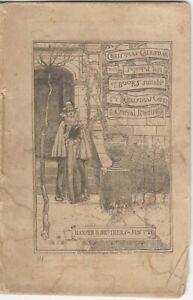Harper Bros. Publisher 1883 Christmas Calendar / Books for Gifts Catalog/Booklet