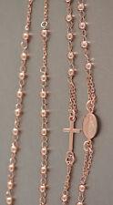 Rosenkranz Kette Silber 925 Rotgold Rosario Silberkette Kugelkette Kreuz Maria