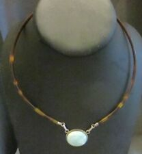 925 Silver (Sterling) Pendant and Findings Lucite Collar Necklace