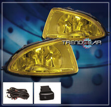 2004 2005 HONDA CIVIC COUPE SEDAN 2/4DR JDM BUMPER YELLOW LENS FOG LIGHT+HARNESS