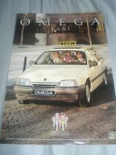 OPEL Omega TAXI BROCHURE Oct 1987 TESTO TEDESCO