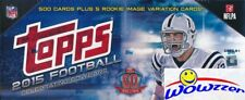 2015 Topps Football EXCLUSIVE MASSIVE 505 Card Factory Set-5 ROOKIE VARIATIONS!