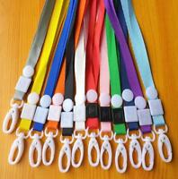 10Pcs Neck Strap Lanyard Safety Breakaway For ID Name Badge Holder Keys Clip MT