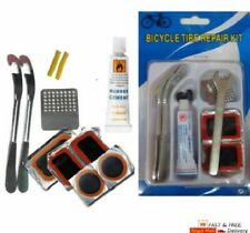 Bicycle Cycle Tyre Repair Kit Inner Bike Tube Puncture Patch Lever Spanner Glue