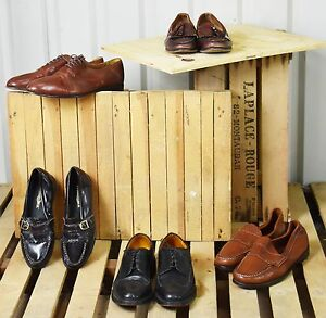 5 X MENS SMART LEATHER SHOE BUNDLE 1. BROGUES, LOAFERS, PENNY LOAFERS ETC.