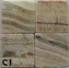 New listing Set of 4 - Handmade Natural Stone Ceramic Tile Drink Coasters - Plain 1 - G