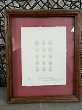 VINTAGE 1984 MARY RUTHERFORD CAROLINA LILY SIGNED NUMBERED QUILT PRINT 179/290