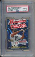 2010 Bowman Baseball Draft Picks Prospects Factory Sealed Hobby Foil Pack PSA 10