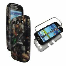For Samsung Galaxy S 3 III i9300 Hybrid BlkStrip Camo Stem V Hard Soft Cover