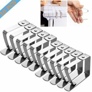 10 Stück Edelstahl Tischtuchhalter Tischdeckenklammer Klammern Tischtuchklammer