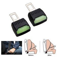 2pcs Car Auto Durable Glow Safety Seat Belt Buckle Clip Extension Extender Clip