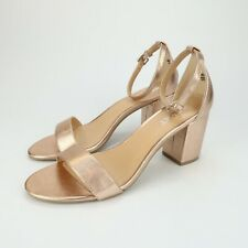 REPORT Womens Payson COPPER Ankle Strap Heels Sandals Size 8.5 pl5