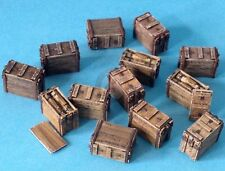 Resicast 1/35 ML 3-inch Mortar Wooden Ammo Boxes (10 Closed & 3 Open) 352365