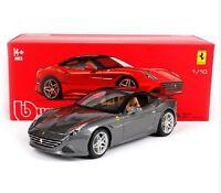 Bburago 1:18 Ferrari California T Closed Top Signature Diecast Model Car Gray