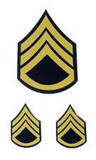 US Army Military Staff Sergeant  Rank Stripes Colored SSG Decal Sticker Set of 3