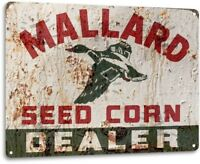 Mallard Seed Corn Metal Wall Art Kitchen Farm Cottage Shop Store Sign