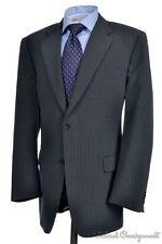 GIANFRANCO FERRE White Label Gray Stripe Wool Jacket Pants SUIT Mens - 46 48 R