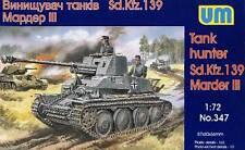 UM Panzerjäger Marder III Sd.Kfz.139 38(t) 76,2mm Pak 1:72 Modell-Bausatz kit