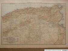 Landkarte von Algerien und Tunesien, Velhagen & Klasing 1894