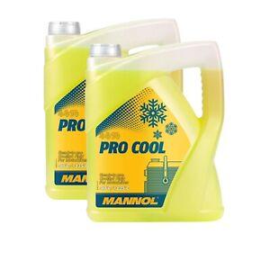 2x5 Liter MANNOL Pro Cool Kühlflüssigkeit gelb Kühlerschutz Motorrad Roller Quad