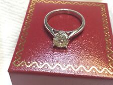 GIA certified diamond and 14k white gold  engagement ring 1.13cts VS1