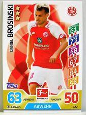 Match Attax 2017/18 Bundesliga - #222 Daniel Brosinski - 1. FSV Mainz 05