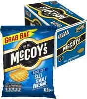 McCoy's Ridge Cut Crisps Salt & Malt Vinegar Flavoured Potato Crisp Snacks, 36pk