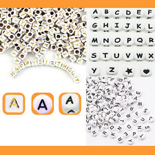 Buchstabenperlen A-Z mix rund Würfel eckig Buchstaben Perlen Zahlen DIY Armband