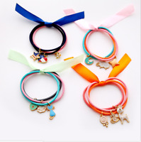 Girls Women Hair Bands ELASTIC Ponytail TIE Hair Accessories Candy Hairtie New