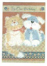 Hallmark FUN DOG & CAT  Birthday Birthday Greeting Card w/ Envelope G7
