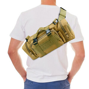 Outdoor Tactical Waist Pack Molle Pouch Deployment Bag Utility Camping Hiking US