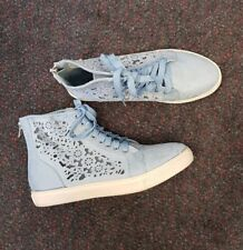 womens, ladies, new, blue, pavement, paris floral sneaker, shoes, size 40
