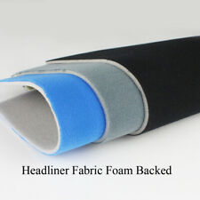 Black/Grey/Blue Headliner Repair Fabric Foam Backed Interior Roof Liner Re-cover