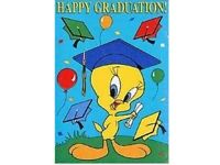 Tweety Happy Graduation Decorative House Flag