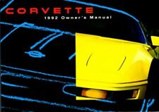 1992 Chevrolet Corvette Owners Manual User Guide Reference Operator Book Fuses