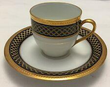 Bernardaud MONT THABOR Asprey Gold espresso / coffee cup and saucer UNUSED