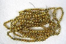 "Old Gold Mercury Glass Triple Bar Bead Christmas Garland 100"" 3/4"" Beads Gld4"