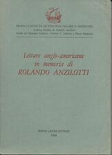 Letture anglo-americane in memoria di Rolando Anzilotti