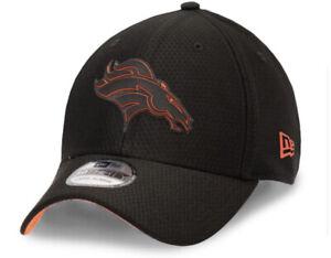 Denver Broncos NFL New Era 39Thirty Flex Black Reflect Back Training Hat - M/L