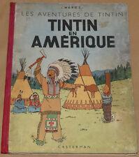 TINTIN - 3 - / Tintin en Amérique / B1 couleurs 1946 / BE-