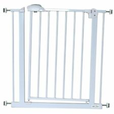 iSafe DeLuxe Safety Stair Gate 90° STOP OPEN & Auto-Close StairGate - White 75-8