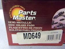 Parts Master MD649 Disc Brake Pad Semi-Metallic L@@K FREE Shipping!!