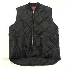 Moosecreek Legendary Clothing Black Quilted Full Zip Nylon Vest Mens Size L