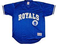 MLB Kansas City KC Royals Baseball True Fan Mesh Jersey Pull Over Genuine Large