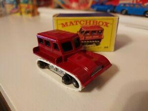 Vintage 1960's Lesney Matchbox #35 Snow-Trac With Box