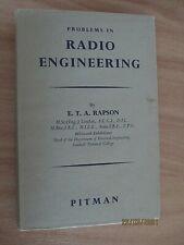 Problems in Radio Engineering E T A Rapson  Pitman1958