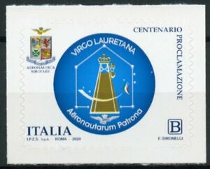 Italy Aviation Stamps 2020 MNH Aeronautica Militare Virgo Lauretana 1v S/A Set