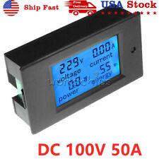 Dc 100v 0 100a Digital Power Panel Meter Monitor Power Energy Voltmeter Ammeter